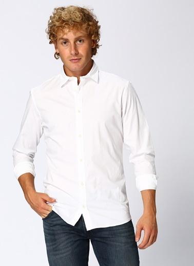 Jack & Jones Jack & Jones Poplin Shirt L/S Gömlek Beyaz